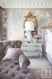 Tufted Chaise Lounge Gray French Bedroom With Gray Velvet Tufted Chaise Lounge French