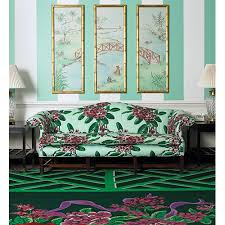 Mint Green Upholstery Fabric Dorothy Draper U0027s 1948 Rhododendron Patterned Wallpaper Is
