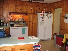 Knotty Kitchen Cabinets Furniture Awesome Pine Kitchen Cabinets With White Refrigerator