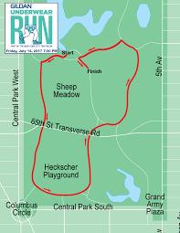Nyc Marathon Route Map by 2017 Underwear Run Course Map New York City Triathlon