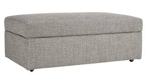 Storage Ottoman Cheap Large Grey Storage Ottoman In Custom Order Upholstery