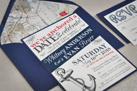 cruise wedding invitations nautical wedding invitation navy and wedding invitation
