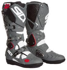 sidi motorcycle boots sidi mx boots crossfire 2 srs white grey black 2017 maciag offroad