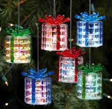 lighted gift boxes christmas decorations led color changing light up gift box ornaments http dld bz