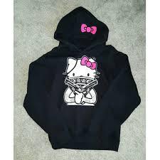 fruit loom custom gangster kitty hoodie