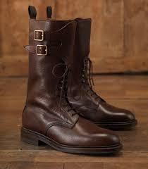 mens grain leather twin strap boot by james purdey u0026 sons men u0027s