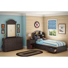 south shore spark twin mates bed with drawers and bookcase