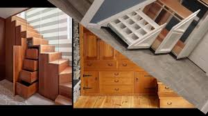 storage organization perfect recessed stair shelving ideas also