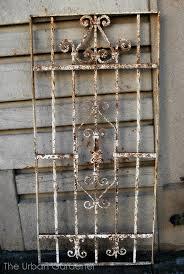 antique wrought iron fence salvage the urban gardener