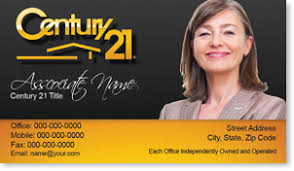 Century 21 Business Cards Cool Century 21 Business Card Century 21 Business Cards