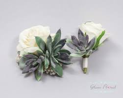 wrist corsages succulent wrist corsage boutonniere set wedding flower