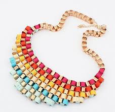 chunky fashion necklace images Vintage exaggerated chunky bib necklace for women jewerly fashion jpg