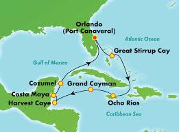 port canaveral map 10 day caribbean from orlando port canaveral