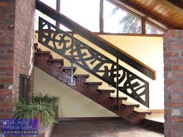 Wood Interior Handrails Decor Winsome Contemporary Stair Railing With Brilliant Plan For