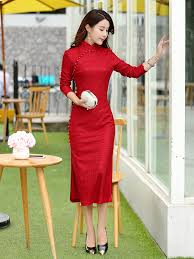 purple floral lace long sleeve mandarin collar wedding dress l 5xl