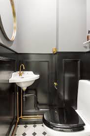 deco wc noir toilette sombre et éléguant toillettes pinterest