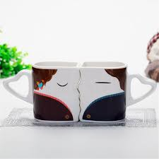 Design Mug Aliexpress Com Buy Special Design Kiss Coffee Mugs Three Colors