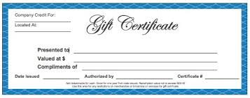 free business gift certificate template free download business