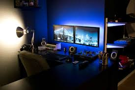 ambient lighting clean desk productive a great way to start a
