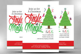 christmas office invitation flyer flyer templates creative market