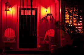 halloween outdoor lights philips hue halloween house outdoor red jpg