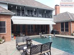 residential retractable awning over patio residential awnings