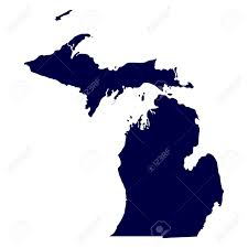 Map Of Michigan by Map Of The U S State Of Michigan Royalty Free Cliparts Vectors