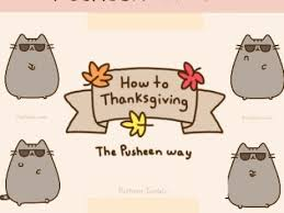 how to thanksgiving the pusheen way