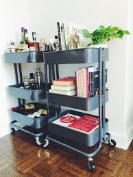 Ikea Office Two Ikea Raskog Carts House Our Bar Our Favorite Cookbooks And