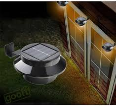 solar ls outdoor solar powered panel 4 led lighting pathway up