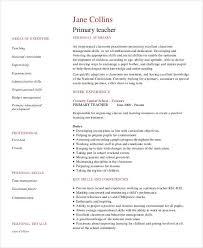 teachers resume exles resume exles 23 free word pdf documents