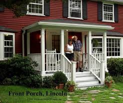 exterior attractive image of front porch decoration using white