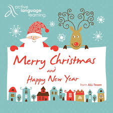 merry christmas and a happy new year 2017 active language learning