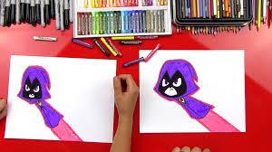 draw raven teen titans art kids hub