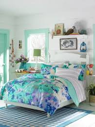 Small Teenage Bedroom Decorated With Paisley Wallpaper And by Top Girls Bedroom Ideas Blue With Teenage Bedroom Blue Flower