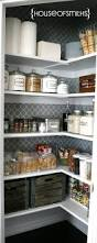 i like the patterned walls in the pantry for the home
