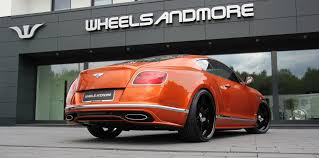 matte red bentley tuning of bentley continental with wheels and exhaust wheelsandmore