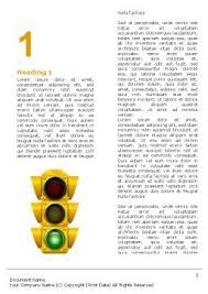 traffic light word template 05301 poweredtemplate com