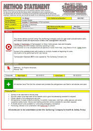 safety statement template financial statement template access