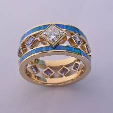 Opal Wedding Ring Sets by Wedding Engagement Rings Southwest Wedding Rings Turquoise