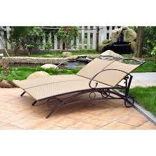 Chaise Lounge Outdoor Blazing Needles 48 X 72 In Outdoor Double Chaise Lounge Cushion