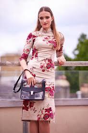 kaiizhang kaii zhang floral print knee length midi dress