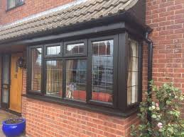 Black Upvc Patio Doors Black Upvc Casement Windows With Square Lead Glass Bill Butters