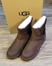 ugg australia womens emalie brown stout leather ankle boot 7 ebay ugg australia leather wedge ankle boots for ebay