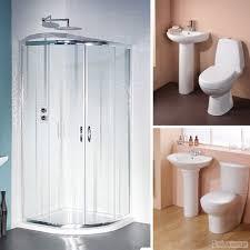 corner bath suite ebay 800 quadrant corner bathroom shower enclosure with basin sink btw toilet set