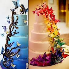 edible cake images 20pcs set butterfly mixed edible cake topper wafer cake decorated