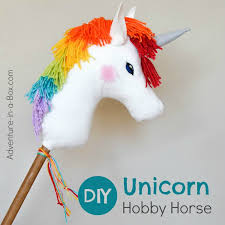 diy rainbow unicorn hobby horse adventure in a box