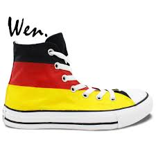 Germany Flag Colors Wen Design Custom Hand Painted Shoes Germany Flag Color High Top