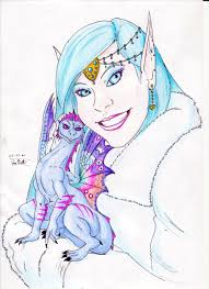 nayni and faerie dragon familiar by diegobastet on deviantart