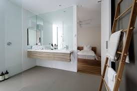 bathroom elegant white beach bathroom featuring square wall